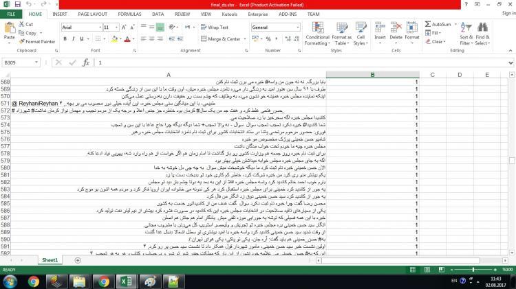 مجموعه داده توییت های طعنه دار و بدون طعنه فارسی برای طعنه کاوی